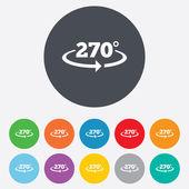 Angle 270 degrees sign icon. Geometry math symbol — Stockfoto