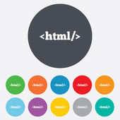 HTML sign icon. Markup language symbol. — Foto Stock