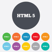 HTML5 sign icon. New Markup language symbol. — Foto Stock