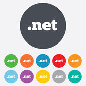 Domain NET sign icon. Top-level internet domain — Stock Photo