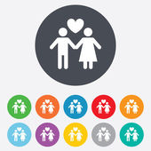 Couple sign icon. Male love female. Lovers. — Stock Photo