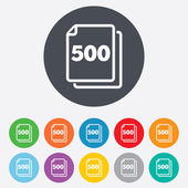 In pack 500 sheets sign icon. 500 papers symbol. — Stock Photo