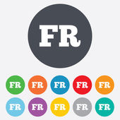 French language sign icon. FR translation. — Stock Photo