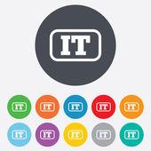 Italian language sign icon. IT Italy translation — Stock Photo