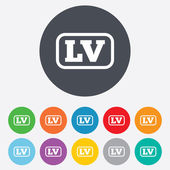 Latvian language sign icon. LV translation — Stock Photo