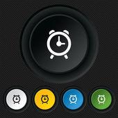 Alarm clock sign icon. Wake up alarm symbol. — Stockvektor