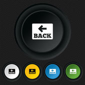 Arrow sign icon. Back button. Navigation symbol — Vecteur