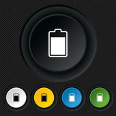 Battery level sign icon. Electricity symbol. — Stockvector