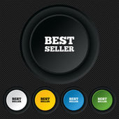 Best seller sign icon. Best seller award symbol — Stockvector