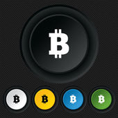 Bitcoin sign icon. Cryptography currency symbol — Stockvector