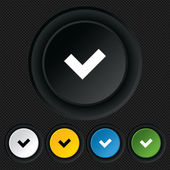 Check sign icon. Yes button. — Stockvector