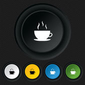 Coffee cup sign icon. Hot coffee button. — Vector de stock