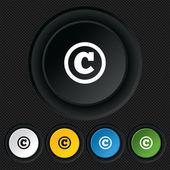 """Copyright-zeichen-symbol. schaltfläche """"copyright. — Stockvektor"""