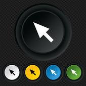 Mouse cursor sign icon. Pointer symbol. — Stock Vector
