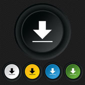 Download icon. Upload button. — Stockvector