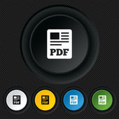 PDF file document icon. Download pdf button. — Stockvector