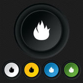 Fire flame sign icon. Fire symbol. — Vecteur