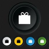 Gift box sign icon. Present symbol. — Stock Vector