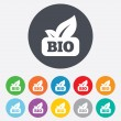 Bio product sign icon. Leaf symbol. — ストック写真