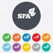 Spa sign icon. Spa leaves symbol. — Stock Photo