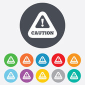 Attention caution sign icon. Exclamation mark. — Stock Photo