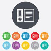 Document folder sign. Accounting binder symbol. — Stock Photo