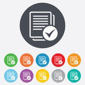 ícone de sinal de arquivo de texto. verifique o símbolo de documento de arquivo. — Fotografia Stock