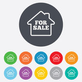 For sale sign icon. Real estate selling. — Stock Photo