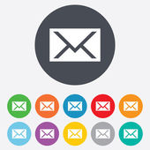 Mail icon. Envelope symbol. Message sign. — Stock Photo