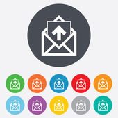 Mail icon. Envelope symbol. Outbox message sign — Stok fotoğraf