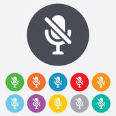No Microphone sign icon. Speaker symbol. — Stock Photo