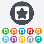 Star sign icon. Favorite button. Navigation — Stock Photo