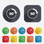 90 graden teken hoeksymbool. meetkunde-wiskunde-symbool — Stockvector