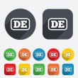 Stock Vector: Germlanguage sign icon. DE Deutschland.