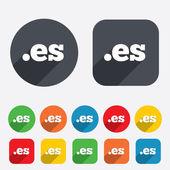 Domain ES sign icon. Top-level internet domain — Stock Vector