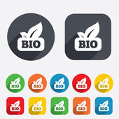 Bio product sign icon. Leaf symbol. — Stock Vector