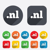 Domain NL sign icon. Top-level internet domain — Stockvector