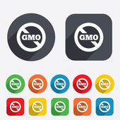 No GMO sign. Without Genetically modified food. — Stock Vector