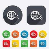 Internet-zeichen-symbol. world wide web-symbol. — Stockvektor