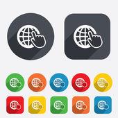 Internet sign icon. World wide web symbol. — Stock Vector