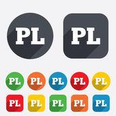 Polish language sign icon. PL translation — Stock Vector