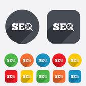 SEO sign icon. Search Engine Optimization symbol. — Stock Vector