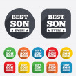 Best son ever sign icon. Award symbol. — Stock Photo #41634407