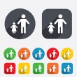 One-parent family with one child sign icon. — Stock Photo