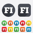 Stock Photo: Finnish language sign icon. FI translation.