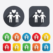 Couple sign icon. Male love male. Gays. — Stock Photo