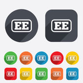 Estonian language sign icon. EE translation. — Stock Photo