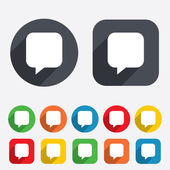Chat sign icon. Speech bubble symbol. — Stock Photo