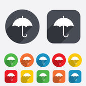 Umbrella sign icon. Rain protection symbol. — Stockfoto