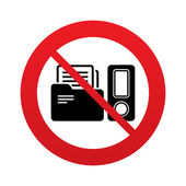 Document folder sign. Accounting binder symbol. — Stock Vector